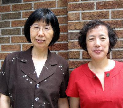 廣教學校暑期班邀請東北大學諮詢與教育心理學系李杰教授(左)開設心理輔導講座。(記者李靜雯/攝影)