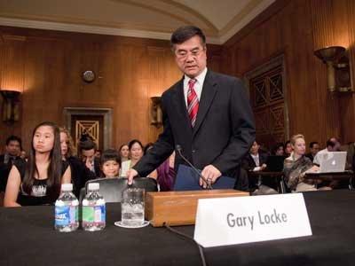 獲提名出任美國駐中國大使的商務部長駱家輝,26日於國會出席聽證會。(美聯社)