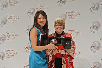 華裔青年創業家石亭芝獲「卡地亞婦女創新獎」北美地區桂冠。(圖:石亭芝提供)
