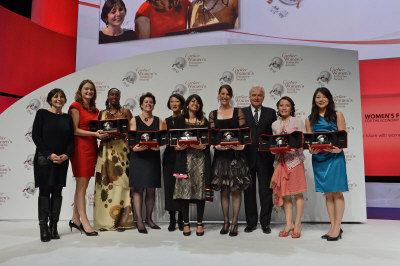 第六屆「卡地亞婦女創新獎」全球各區桂冠,右一為北美地區的石亭芝。(圖:石亭芝提供)