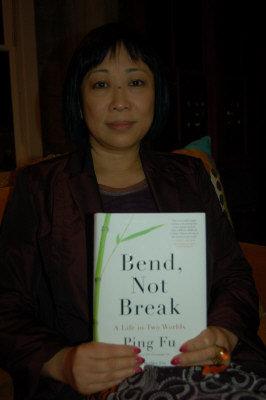 3D軟體公司「傑魔」創辦人傅蘋,發表個人自傳「Bend, Not Break」,與讀者分享人生經歷與哲學。(記者蔡明容/攝影)
