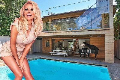 潘蜜拉安德森在馬里布海灘的豪宅,最近以租售均可的方式上市。(取材自網路)