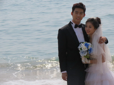 鬼鬼(右)、2PM玉澤演在「我們結婚了」節目,有超高人氣。(圖:寶麗來提供)