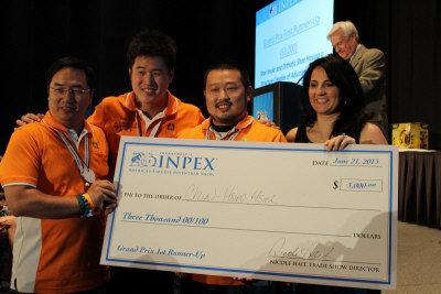台灣發明團隊成績亮麗,紅崴科技並拿下大會第二大獎。(張瓊月/攝影)