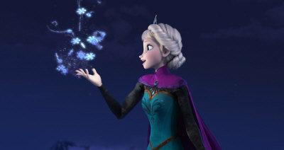 迪士尼動畫「冰雪奇緣」擊敗強敵哈比人,登上北美票房冠軍。(美聯社)