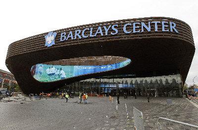 巴克萊中心球館。(美聯社)