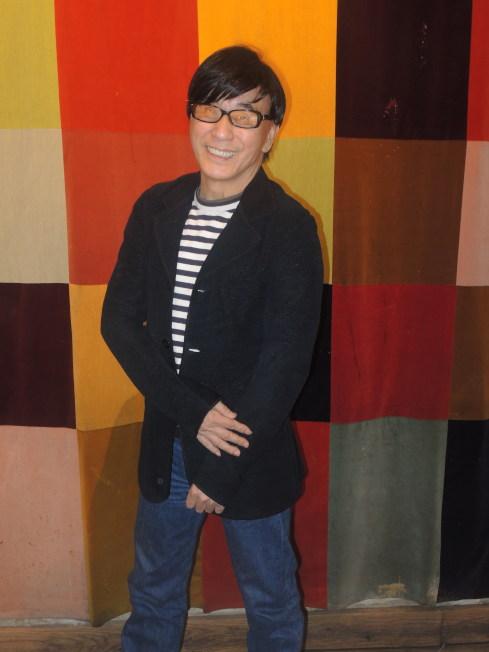 紐約美華藝術協會行政總監周龍章。(記者高夢梓/攝影)</p> <p>