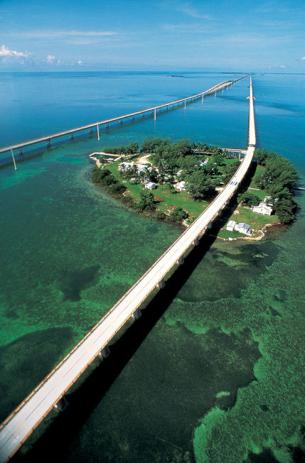 美國1號公路上的七英里橋。