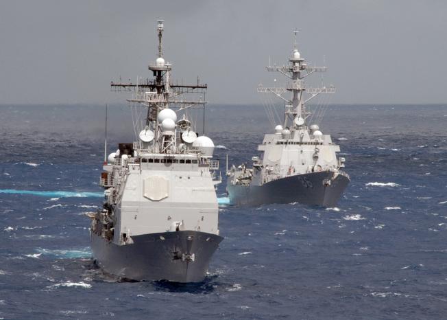 美國海軍戰艦在海上執行任務。(美國海軍)