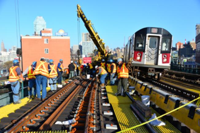 7号地铁将在2016年停运维修八周。(MTA提供)