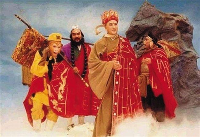 圖為1986年版《西遊記》唐僧和徒弟的劇照。(取材自新京報)