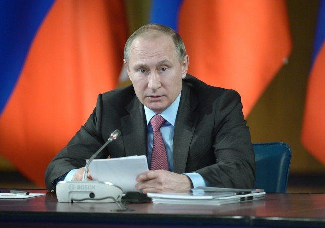 俄羅斯總統14日普亭宣布從敘利亞撤軍,俄羅斯駐聯合國大使稱,莫斯科從今以後進入「政治模式」,即「停止敵對行為的模式」。(歐新社)
