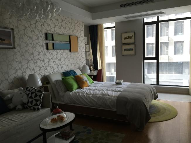 浦江鎮酒店公寓的樣板房。