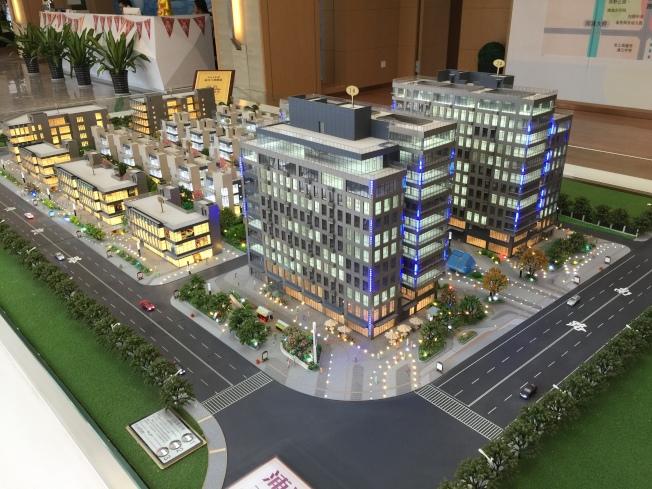 浦江鎮酒店公寓的模型。