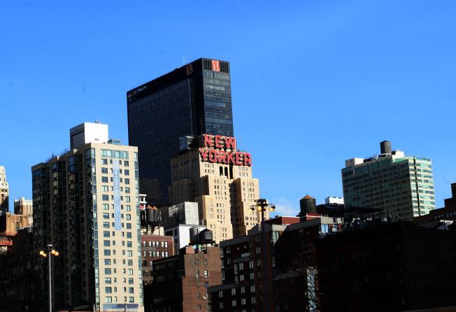 全美想要租住兩房公寓的最低時薪收入排行榜中,紐約州要26.69元才租得起。圖為紐約市曼哈坦中城西區。(記者許振輝/攝影)