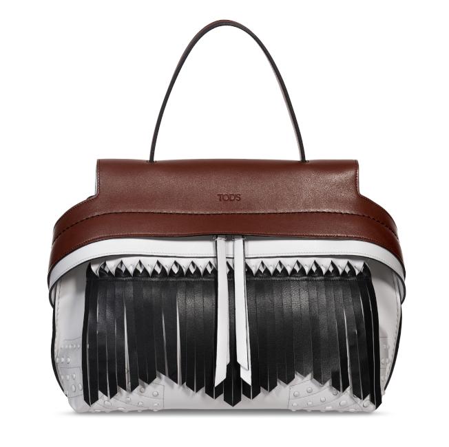 流蘇撞色Wave Bag。(圖:TOD'S提供)