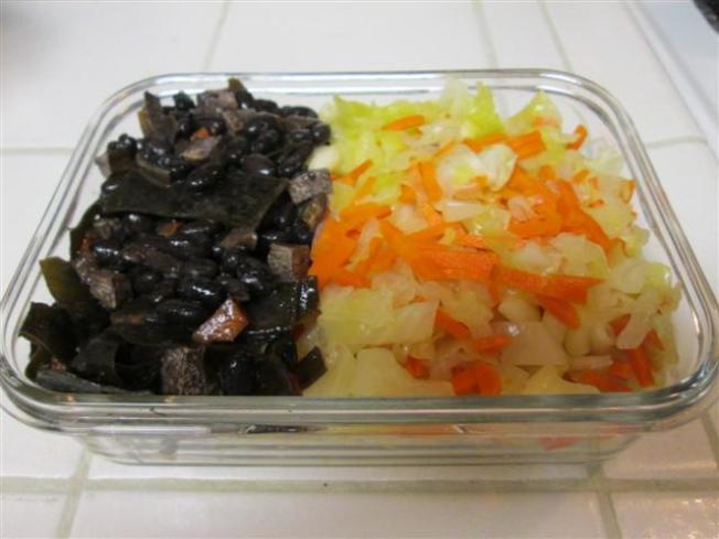 魯黑豆+高麗菜