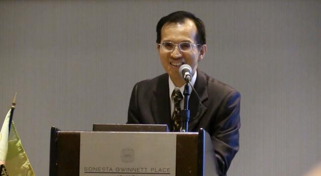 戴輝源代表外交部向協會表示恭賀,並向與會嘉賓表示歡迎。(林昱瑄/攝影)