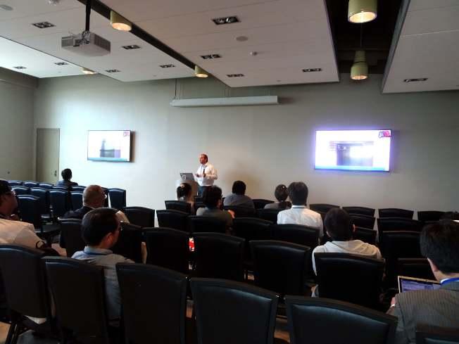 第三屆社會網路國際研討會在新州肯恩大學舉行,來自各地數十名社會網絡專家,就大數據應用進行全方位探討。(記者謝哲澍/攝影)