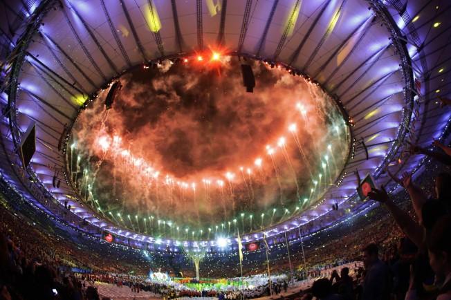 奧運閉幕。美聯社
