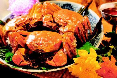大閘蟹,許多饕客視為秋天必嘗美食。資料照片