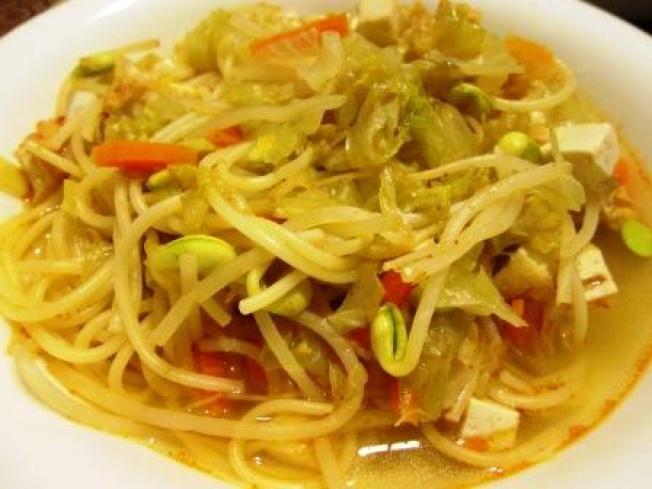 ★(三-2)萵苣黃豆芽湯麵