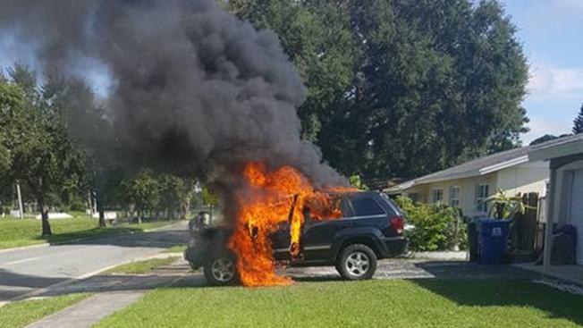佛州火燒車 疑Note 7惹禍