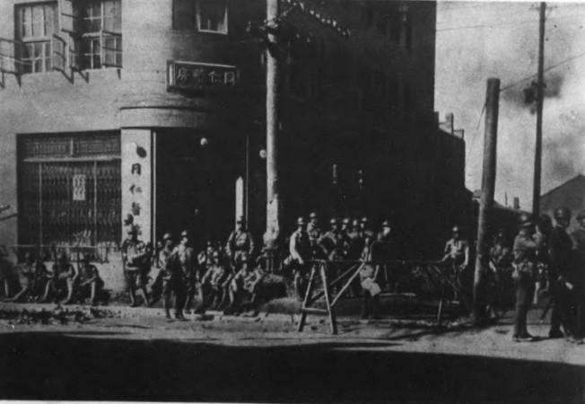日本軍進佔奉天(瀋陽)市。(本報系資料照)