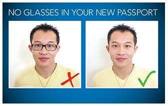 11月新規 護照照片禁戴眼鏡