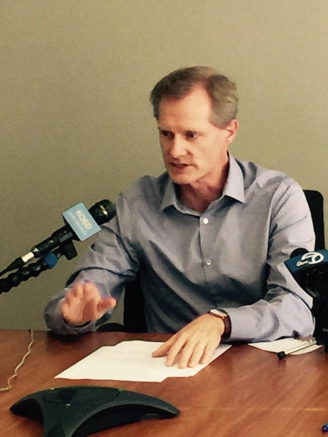 漢考克表示矽谷房屋短缺問題嚴重。(記者王金城/攝影)