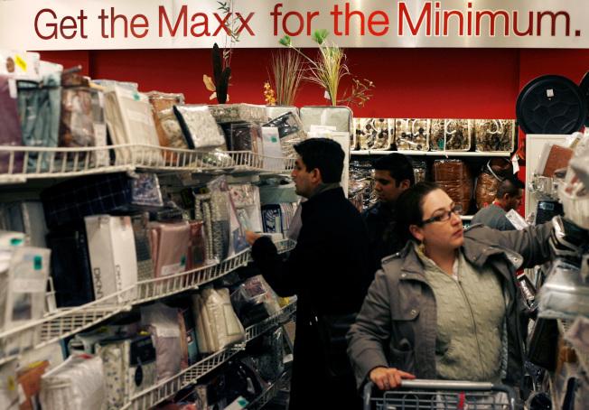 T.J.Maxx周三上午隨時都有新貨,但是減價品和庫存品通常在周二到周五之間上架。(Getty Images)