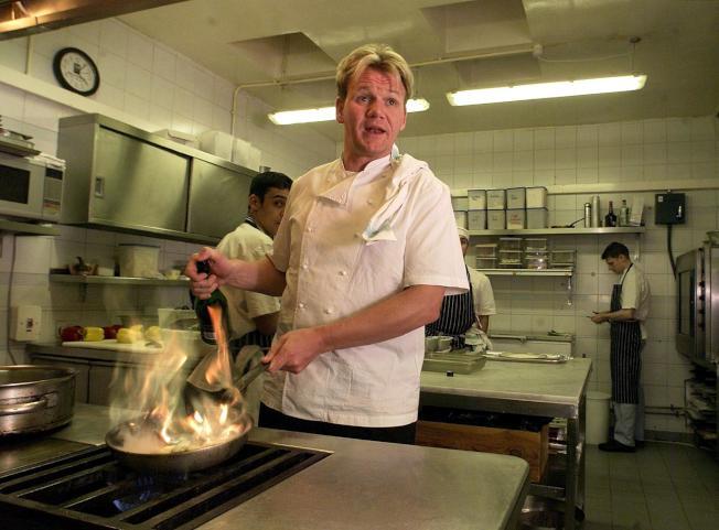 脾氣火辣的男名廚戈登拉姆齊(Gordon Ramsay)的走紅,也帶動不少男性開始下廚。(Getty Images)