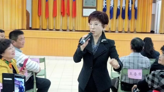 中國國民黨主席洪秀柱。(本報資料照片)。