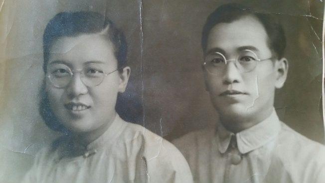 令狐萍的雙親令狐溥及馬慧瑗,攝於1945年。(令狐萍提供)