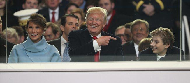 川普上任,「第一公子」拜倫就被當取笑對象。(歐新社)