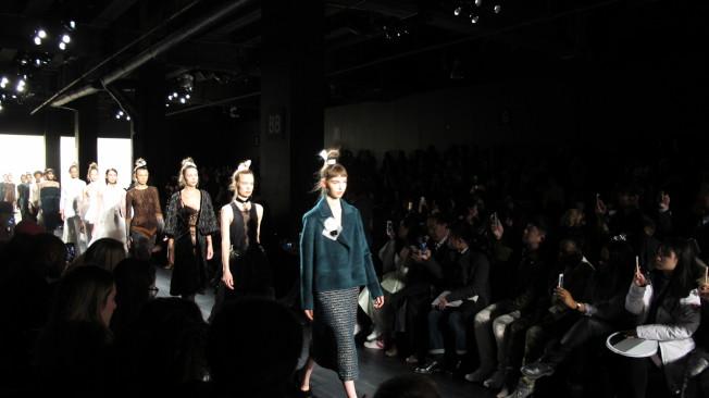 LANYU 2017秋冬高級成衣系列在紐約時裝周展示。(記者高夢梓/攝影)