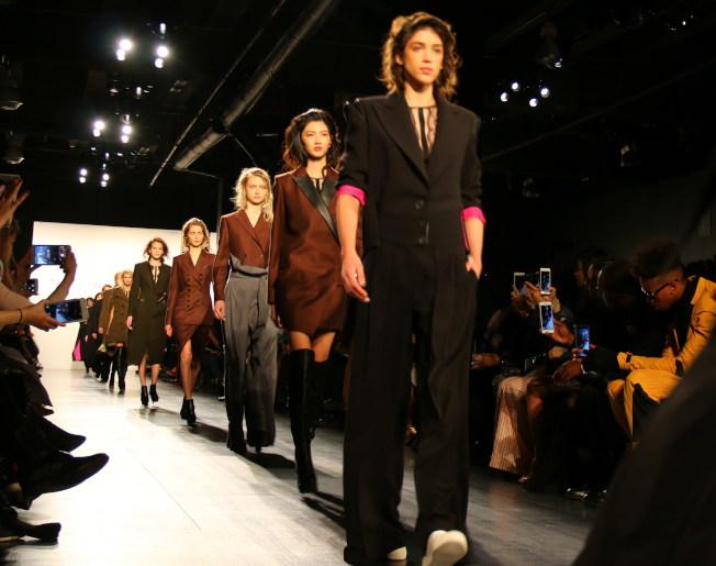 王陶的TAORAY WANG2017秋冬系列在紐約時裝周展示。(記者高夢梓/攝影)