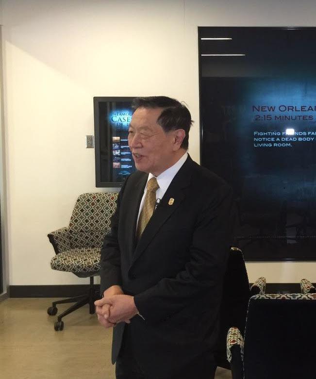 李昌鈺15日在康州辦公室接受本報專訪,提到陳建生案。(記者魏碧洲/攝影)