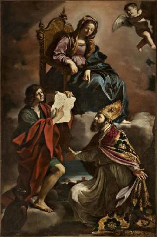 這幅17世紀的畫作2014年在義大利北部城市摩狄納座教堂失竊。