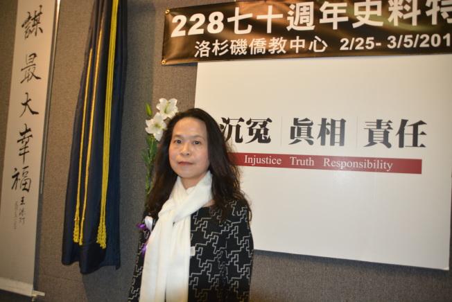 策展人黃惠君。(記者莊婷╱攝影)