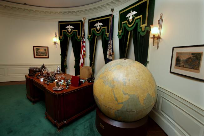 羅斯福生前的辦公室。(美聯社)