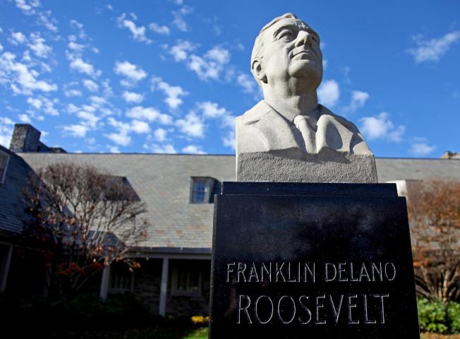 位於紐約長島的羅斯福總統圖書館,是政府設立的第一座總統圖書館。(美聯社)