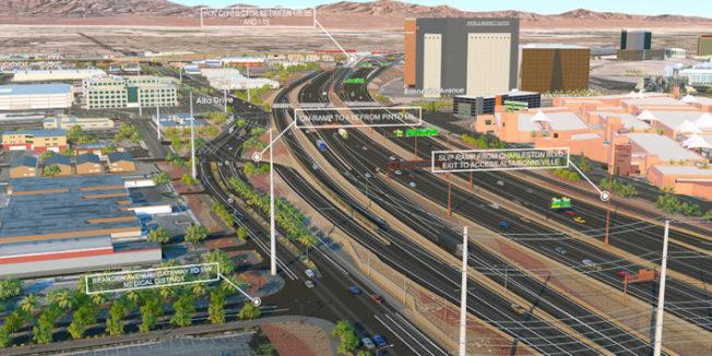 20日起賭城高速公路交流道重大施工,為避免壅塞,車輛請改道。(賭城霓虹計畫網站)