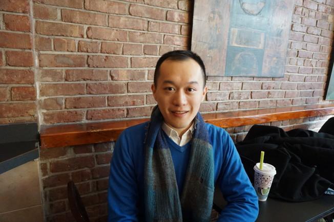 來自香港的彭德洲,在劇中飾演要角。(記者王若馨/攝影)