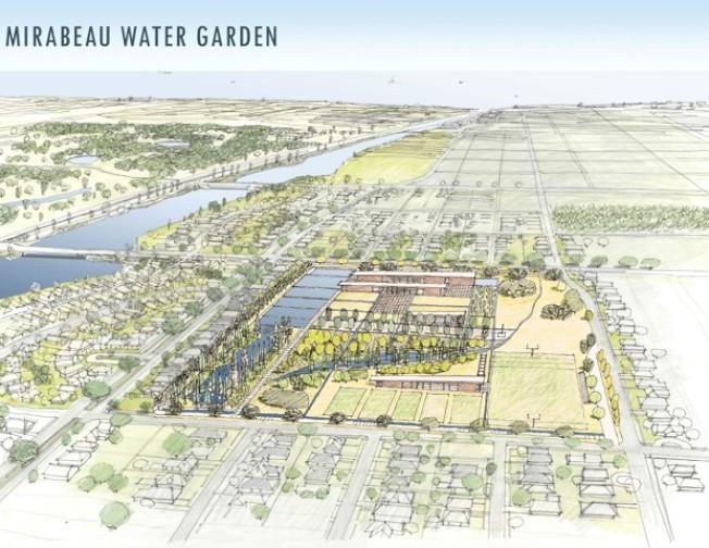 這片草地可以吸收高達8萬9000加侖的雨水,既分擔排水系統壓力,又能減輕雨後爆發洪水的風險。(紐奧良再開發局提供)