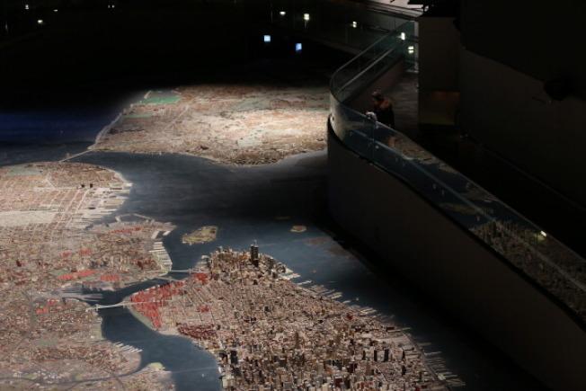 紐約市皇后美術館的紐約市全景模型。 (Getty Images)