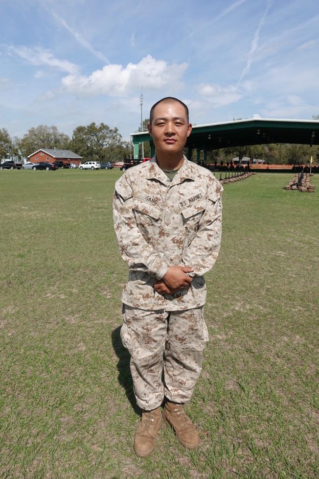 桑林是陸戰隊新添的華裔面孔。(記者金春香/攝影)