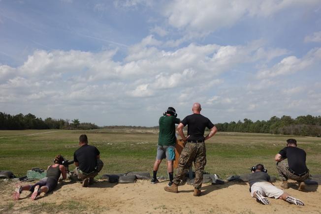 陸戰隊重視戰技,射擊訓練是重頭戲。(記者金春香/攝影)
