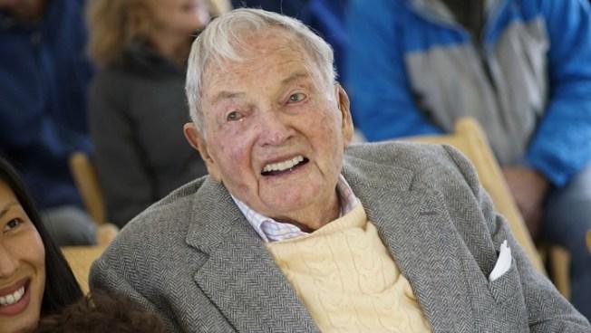 知名洛克斐勒家族的銀行家兼慈善家大衛.洛克斐勒,20日在紐約州Pocantico Hills的家中去世,享年101歲 。(美聯社)