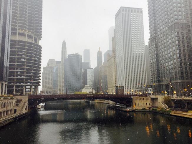 芝加哥2016年高檔辦公大樓租金增長近兩成,在全美租金漲幅排行首位,世界排名第二!(記者董宇/攝影)